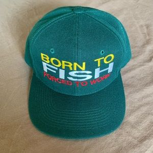 Born to Fish Forced to Work SnapBack Hat